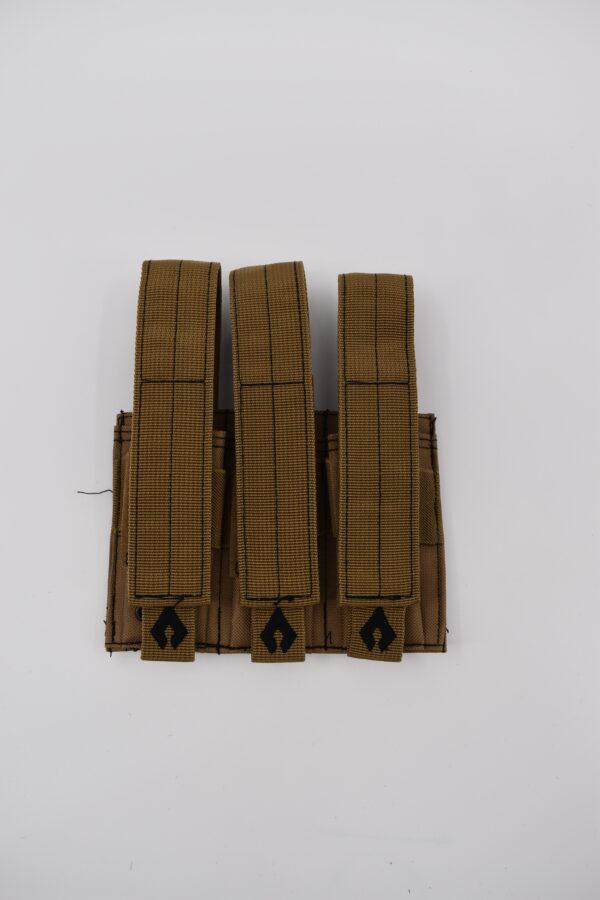 Pistol Triple Mag Pouch - Tan